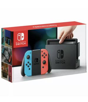 Nintendo Switch 32GB Gray Console with Neon Red and Neon Blue Joy-Con for Sale in Salisbury, MD