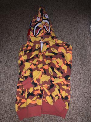 Orange camo bape jacket size small men's for Sale in Medina, OH