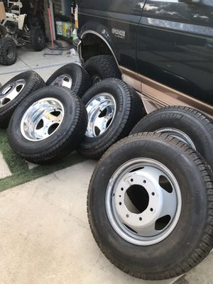 Dually wheels and tires Chevy 2008 to 2018 for Sale in National City, CA