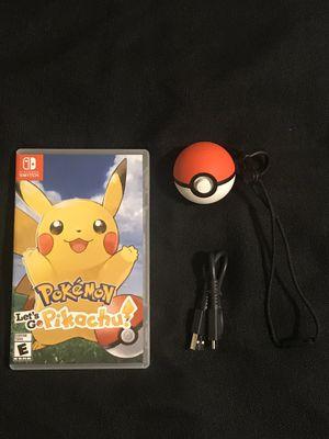 Nintendo Switch Game Pokémon Let's Go Pikachu with Pokèball Plus for Sale in Phoenix, AZ