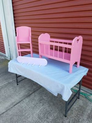 Vintage 3 Piece Baby Doll Furniture Set ( Solid Wood ) for Sale in Magnolia, TX