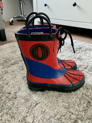 Spider Man Rain boots size 11 for Sale in Hayward, CA