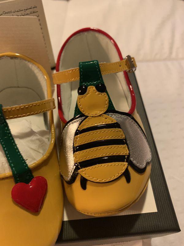 Gucci baby crib shoes