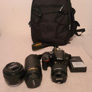Nikon d3500 with extras for Sale in La Puente, CA