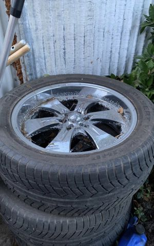 Tires with rims !! for Sale in Pomona, CA