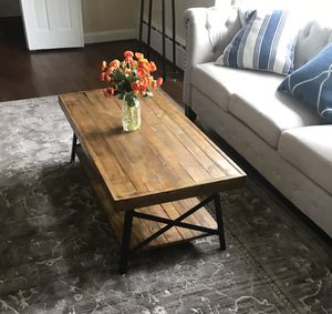 Rustic Coffee table and end table set farmhouse style for Sale in Rockville, MD