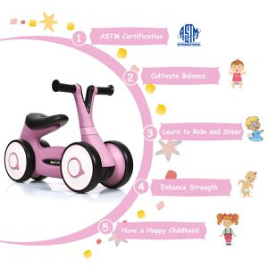Baby Balance Bike Bicycle Mini Children Walker Toddler Rides No-Pedal Pink for Sale in Rosemead, CA