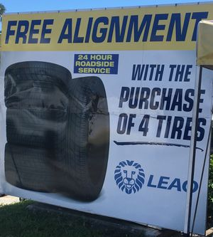 Free alignment with purchase of 4 new tires. for Sale in Miami, FL