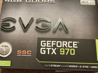 Brand New EVGA Nvidia GeForce GTX 970 SSC ACX 2.0+ 4GB GDDR5 graphics card for Sale in San Jose,  CA