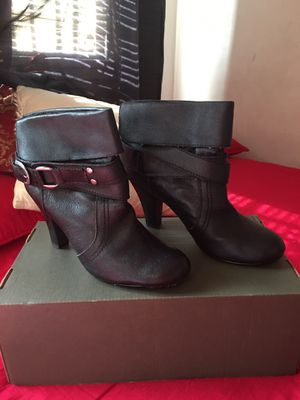 """Authentic """" Julia- KK"""" Heels Black boots- Style Leather- Almost new for Sale in Los Angeles, CA"""