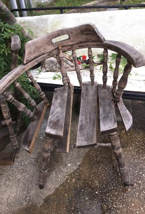 Weather wood chair for Sale in Jacksonville, FL