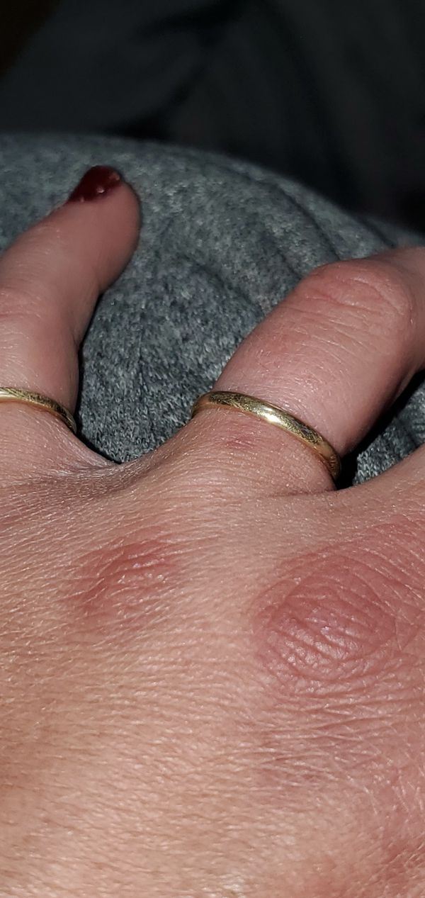 14k solid yellow gold wedding band size 6