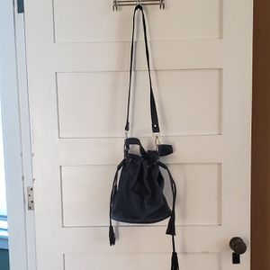 Black Leather Bucket Bag by Forever 21 for Sale in Woburn, MA