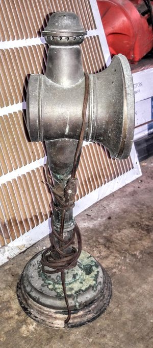 Antique rail lantern converted into electric lamp for Sale in Conroe, TX