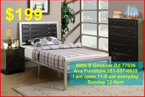 twin bed frame with mattress $199 for Sale in Houston, TX