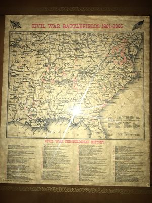 Map from civil war battlefields ( 1861- 1865 ) for Sale in San Francisco, CA