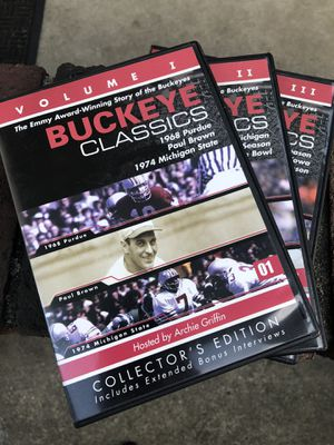 Ohio State Buckeye classics top DVDs no scratches for Sale in Overbrook, WV