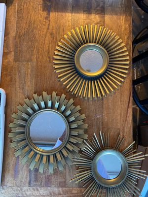 Three circle mirrors for Sale in Valencia, PA