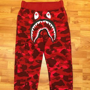 Large Bape Sweatpants Red Shark Camo for Sale in St. Louis, MO