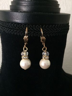 Gold and Pearl drop earrings. for Sale in San Francisco, CA