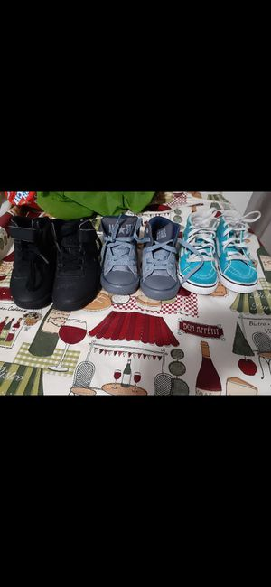 They are size 7 toddler they are vans and converse all star and fila for Sale in Springfield, MA