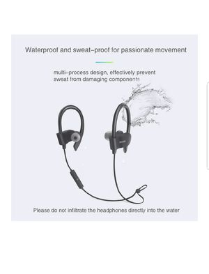 Wireless Bluetooth Earbuds Headphones Waterproof in Ear Flexible Earphone with EarPlug Noise Cancelling Sport Headsets sealed for Sale in Silver Spring, MD