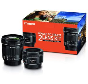Canon travel lens kit 50mm & 10-18mm for Sale in Clermont, FL