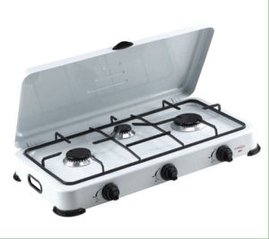 Premium Portable 3 Burners Propane Gas Stove Camping Patio Cocina de Gas Propano Portátil Campamentos Terrazas PPS31 for Sale in Miami Springs, FL
