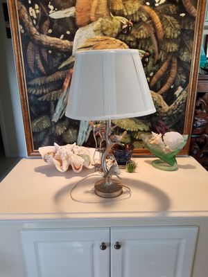 Gold lamp with birds for Sale in Vero Beach, FL