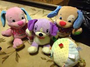 Baby learning toys, all 3 dogs talk for Sale in Glen Burnie, MD