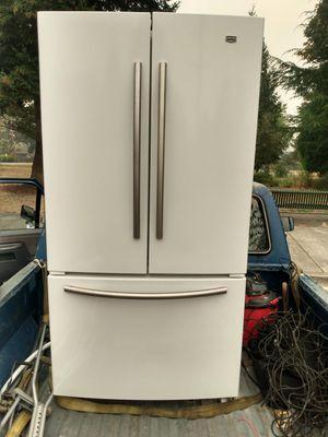 Maytag fridge French door width reminder freezer for Sale in Everett, WA