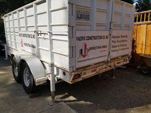 Dumpster trailer by Carson 14,000 lb, loading ramps, 12' long x 4 feet high walls, heavy duty Jacks, tire, loading ramps for Sale in Millbrae, CA