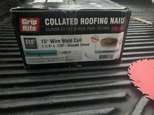 1-1/4 in. x 0.120 in. 304 Stainless Steel Ring Shank Coil Roofing Nail for Sale in Los Angeles, CA