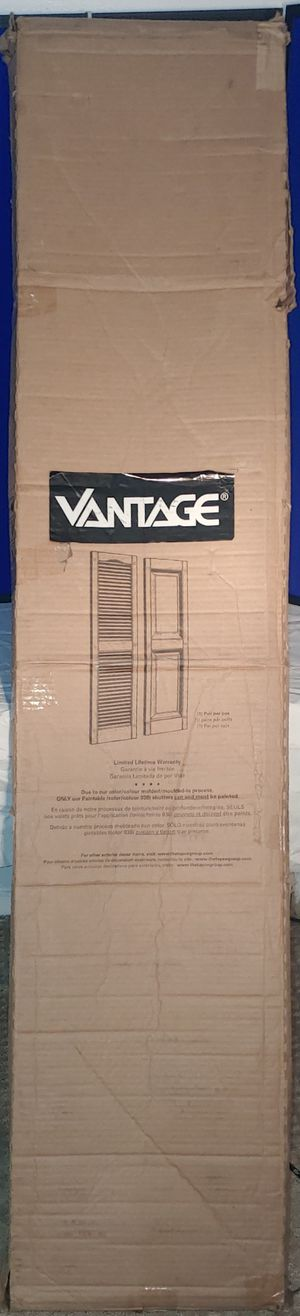 Vantage 2-Pack Black Raised Panel Vinyl Exterior Shutters (Common: 14-in x 71-in; Actual: 13.875-in x 70.5-in) for Sale in Independence, MO