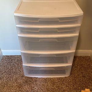 5 Drawer Sterilite Organizer for Sale in Houston, TX