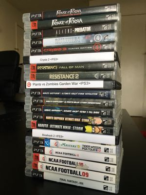 PS3 Video Game Bundle! for Sale in Tempe, AZ