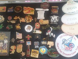 50 Antique Collector Pins Budwiser,Disney,Coke Cola, USA and more for Sale in Columbus, OH