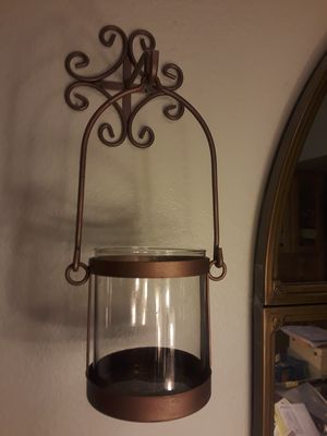 TWO CANDLE HOLDERS WITH WALL ATTACHMENTS for Sale in El Mirage, AZ