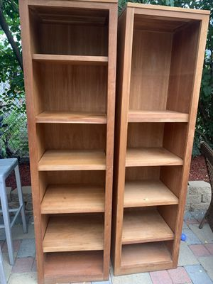 2 wood bookshelfs for Sale in Northfield, IL