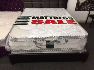 Queen pillow top mattress with boxspring for Sale in Los Angeles, CA