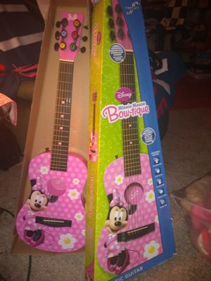 Minnie mouse acoustic guitar for Sale in St. Louis, MO