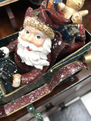 Vintage Christmas Santa Metal Stocking Holder. for Sale in Tampa, FL