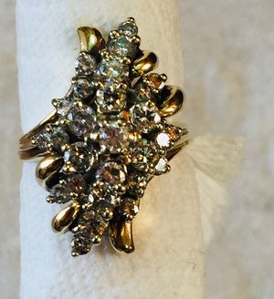 14k Yellow Gold Diamonds Ring Size 8 for Sale in South Gate, CA