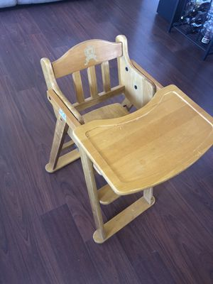 Wood high chair for Sale in San Marcos, CA