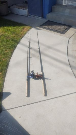 "Set of 2 6'6"" Daiwa Samurai X Spinning Fishing Rod and Reel Combo for Sale in Long Beach, CA"