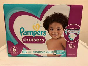 Pampers cruisers size 6 for Sale in Daly City, CA