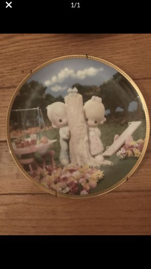 10 Danbury Mint Precious Moments Plates and one two dimensional plate off market plate. All adorable for kitchen or little girls room or just to coll for Sale in St. Louis, MO