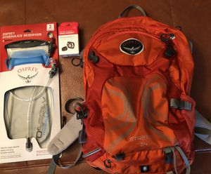 Osprey Stratos 24, Hiking Backpack with Osprey Hydration Pack - Never Used for Sale in Austin, TX