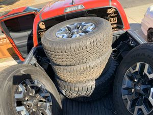 Toyota TACOMA TRD 4x4 off-road OEM wheels & tires : SET OF 5 for Sale in Hayward, CA