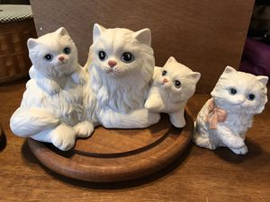 Pretty ! White Porcelain collectors Kitties. for Sale in Gainesville, VA